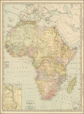 Africa and Africa Map By William Rand  &  Andrew McNally