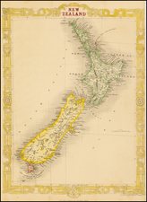 New Zealand Map By John Rapkin