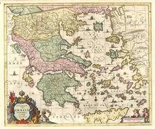 Europe, Mediterranean, Balearic Islands and Greece Map By Jan Jansson