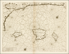 Spain and Balearic Islands Map By Vincenzo Maria Coronelli