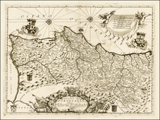 Portugal Map By Vincenzo Maria Coronelli