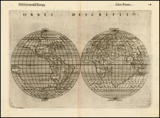 World and World Map By Girolamo Ruscelli