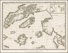 Polar Maps, Atlantic Ocean, Scandinavia, Balearic Islands and Canada Map By Nicolo Zeno