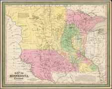 Midwest and Plains Map By Cowperthwait, Desilver & Butler
