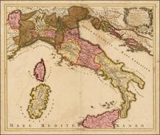Italy Map By Gerard Valk / Giacomo Cantelli da Vignola