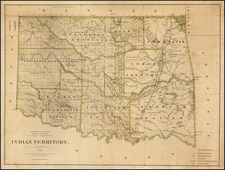 Plains and Oklahoma & Indian Territory Map By General Land Office