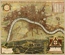 British Isles Map By Johannes De Ram / Pieter van der Aa