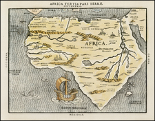 Africa and Africa Map By Heinrich Bunting