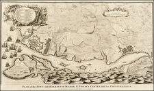 Spain and Balearic Islands Map By Paul de Rapin de Thoyras / Nicholas Tindal