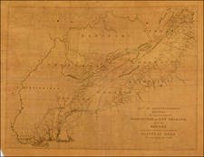 United States, Mid-Atlantic, South and Southeast Map By Gales & Seaton