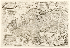 Europe Map By Vincenzo Maria Coronelli