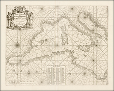 Mediterranean Map By Vincenzo Maria Coronelli