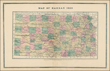 Plains and Kansas Map By H.R. Page  &  Co.