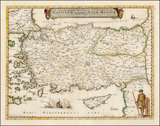 Turkey, Other Islands and Turkey & Asia Minor Map By Pierre Mariette