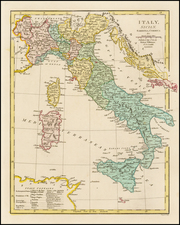 Italy and Balearic Islands Map By Robert Wilkinson
