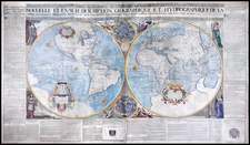 World and World Map By Francois Jollain / Pierre Du Val / Jean Boisseau