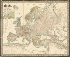 Europe and Europe Map By Heinrich Kiepert