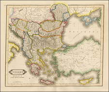 Balkans, Greece, Turkey, Balearic Islands and Turkey & Asia Minor Map By Daniel Lizars
