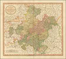 Germany Map By John Cary