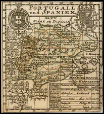 Spain and Portugal Map By Anonymous