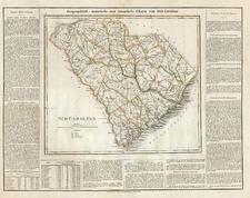 Southeast Map By Carl Ferdinand Weiland