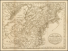 New England, Mid-Atlantic and Midwest Map By John Cary