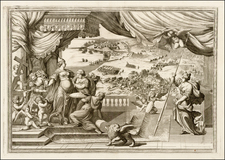 Italy, Venice and Mediterranean Map By Vincenzo Maria Coronelli