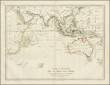 Indian Ocean, Southeast Asia and Australia Map By Jean Baptiste Poirson
