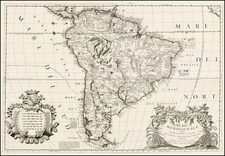 South America and Brazil Map By Vincenzo Maria Coronelli