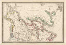 Polar Maps, Alaska and Canada Map By George Philip