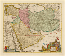 Central Asia & Caucasus, Middle East and Turkey & Asia Minor Map By Jan Barend Elwe