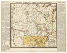 Texas, Midwest, Plains, Southwest and Rocky Mountains Map By Henry Charles Carey  &  Isaac Lea