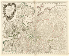 Russia and Russia in Asia Map By Gilles Robert de Vaugondy