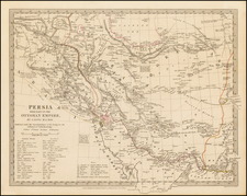 Central Asia & Caucasus and Middle East Map By SDUK