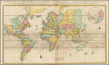 World and World Map By Charles Price  &  Jeremiah Seller