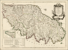 France and Corsica Map By Giovanni Antonio Remondini