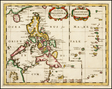 Philippines and Other Islands Map By Nicolas Sanson