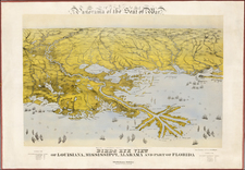 Florida and South Map By John Bachmann