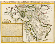 Greece, Turkey, Central Asia & Caucasus, Middle East and Turkey & Asia Minor Map By Henri Chatelain