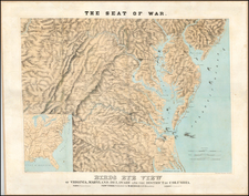 Mid-Atlantic, Southeast and Virginia Map By J. Schedler / Sarony, Major & Knapp