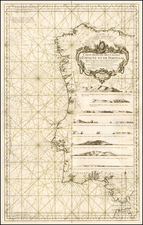 Spain and Portugal Map By Jacques Nicolas Bellin