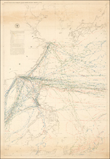 China, Japan, Korea, Southeast Asia and Philippines Map By Matthew Fontaine Maury