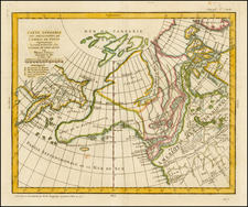 Polar Maps, Alaska and Canada Map By Denis Diderot / Didier Robert de Vaugondy