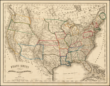 United States Map By G. Civelli