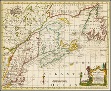 New England and Canada Map By Thomas Kitchin