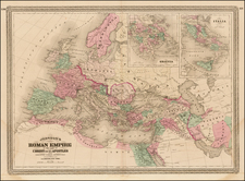 Europe, Balkans, Mediterranean and Middle East Map By Alvin Jewett Johnson