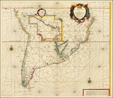 Central America, South America, Argentina and Brazil Map By Arnold Colom