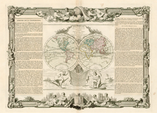 World and World Map By Louis Brion de la Tour