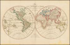 World and World Map By Daniel Friedrich Sotzmann
