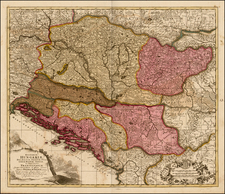 Hungary and Balkans Map By Peter Schenk